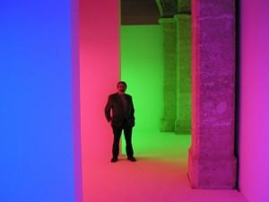 La Chromosaturation es un ambiente artificial compuesto por tres cámaras de color, una roja, una verde y otra azul | Foto: cortesía
