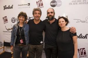 Pituka, Darin, Tosar y Sánches, directores y organizadores del evento   Foto IFF
