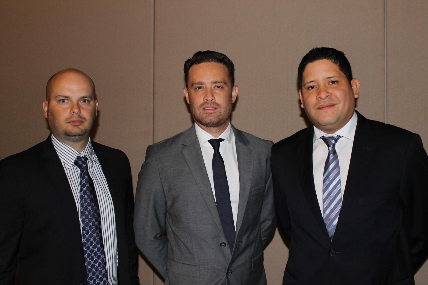 Carlos Castillo, Andrés Delgado y Ariel Pérez