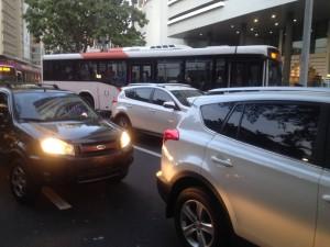 Fuerte tráfico ocasionado por protestas en horas de la tarde en Ciudad de Panamá