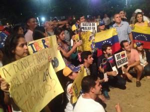 Representación de varias federaciones venezolanas  universitarias de estudiantes asistieron a la concentración