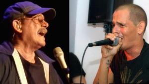 """Silvio Rodríguez y su hijo Silvito """"El libre""""."""