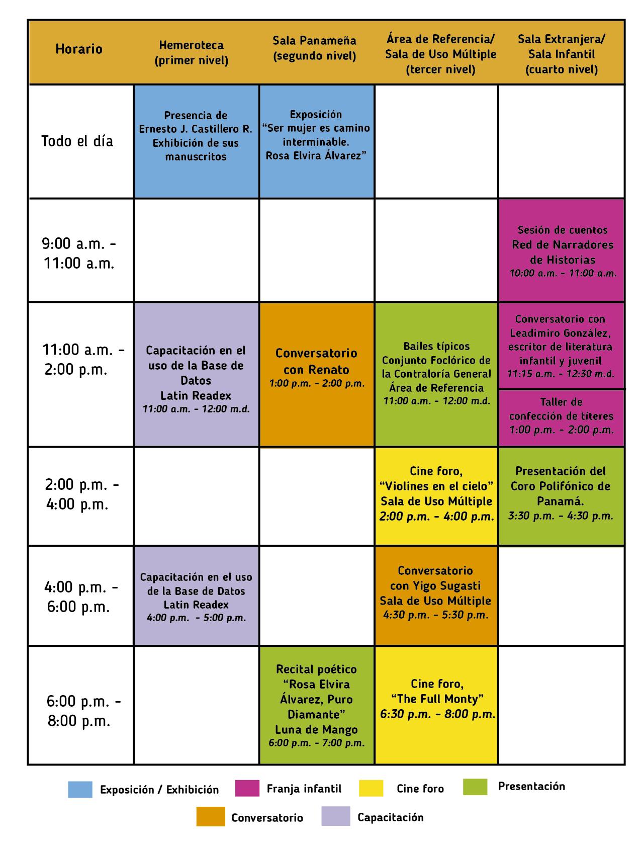 Agenda - Sábado 11 FINAL 2-01
