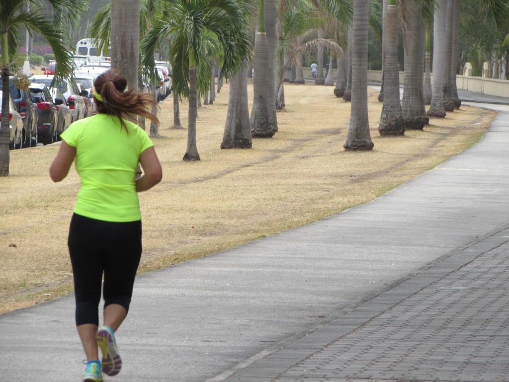 El paseo Motta es el lugar preferido en CDE para ejercitarse   Foto: Aydana Ruiz