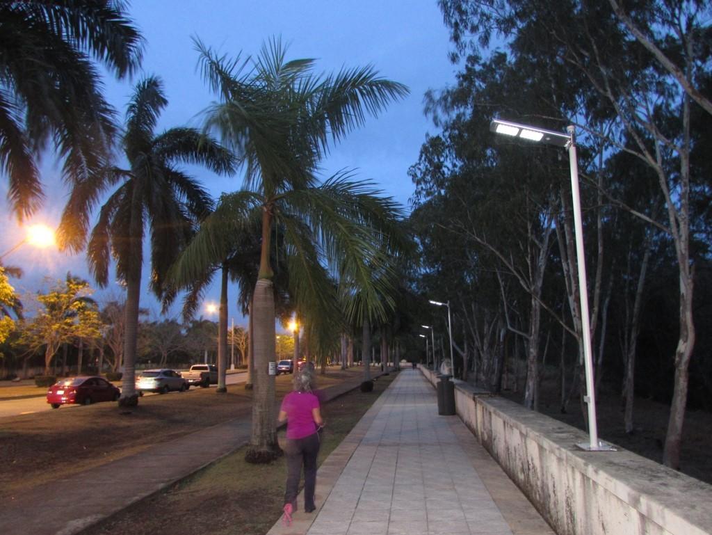 Se han colocado luminarias con sistema led solar | Foto: Aydana Ruiz