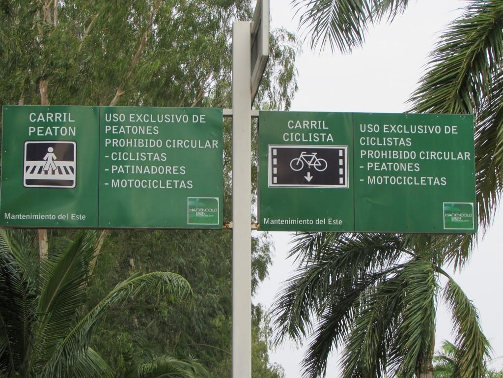 Mantenimientos del Este ha señalizado el malecón | Foto: Aydana Ruiz