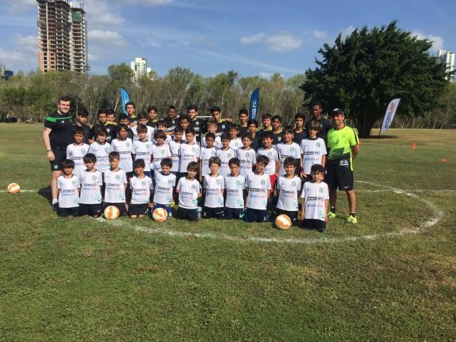 Más de 45 niños asisten diariamente al Parque Felipe Motta, sede del Celtic Camp en Panamá.