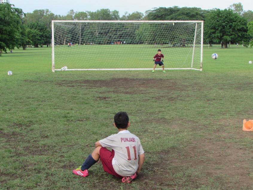 Costa del Este FC entrena permanentemente en el Parque Felipe Motta.