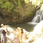 En el sector donde están los petroglifos de La Pintada, hay tres pozos para bañarse y disfrutar.