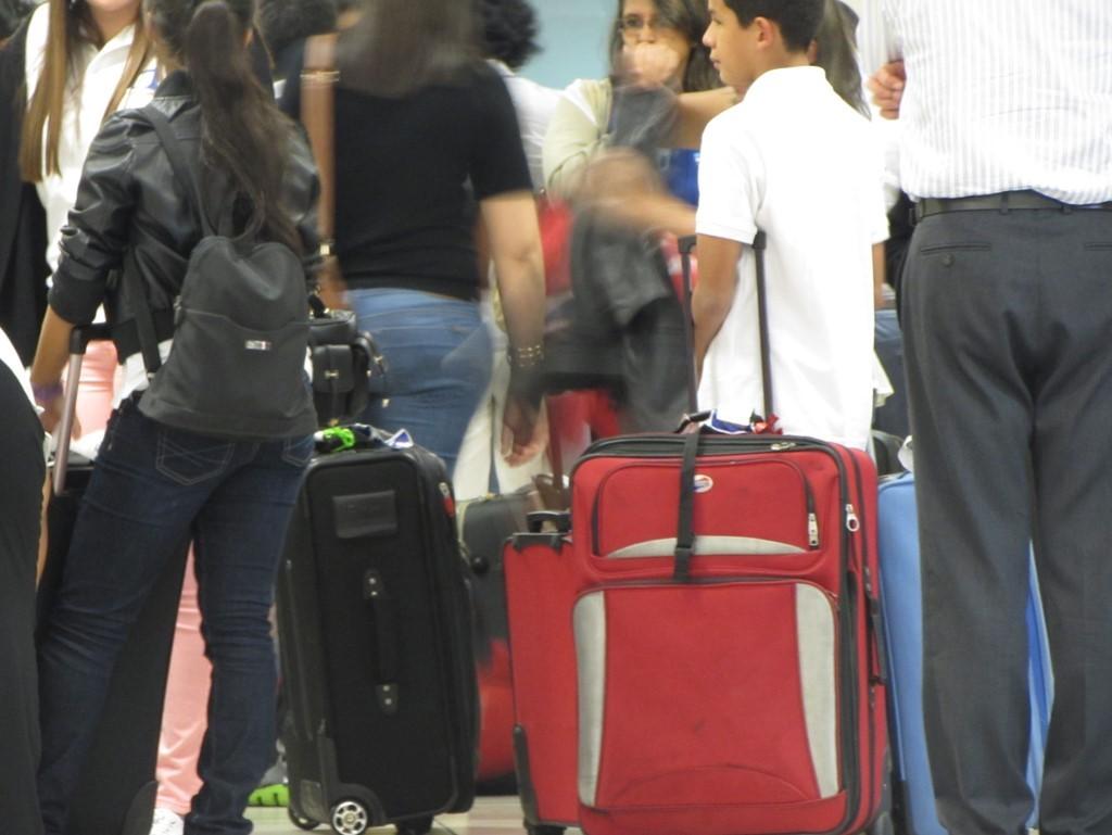 Toda la vida de un inmigrante se resume en una maleta.