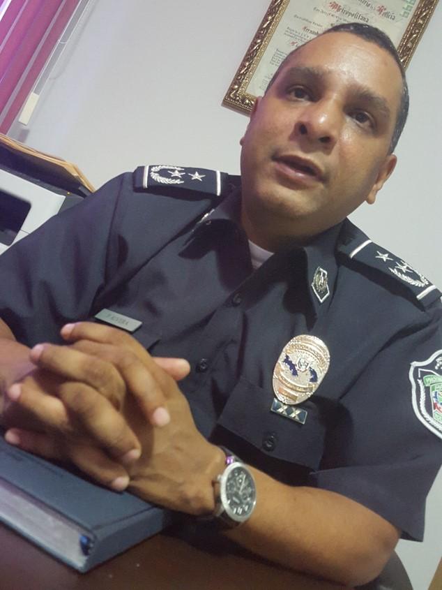 Sub comisionado Javier Rivera, jefe (e) estación policial CDE.