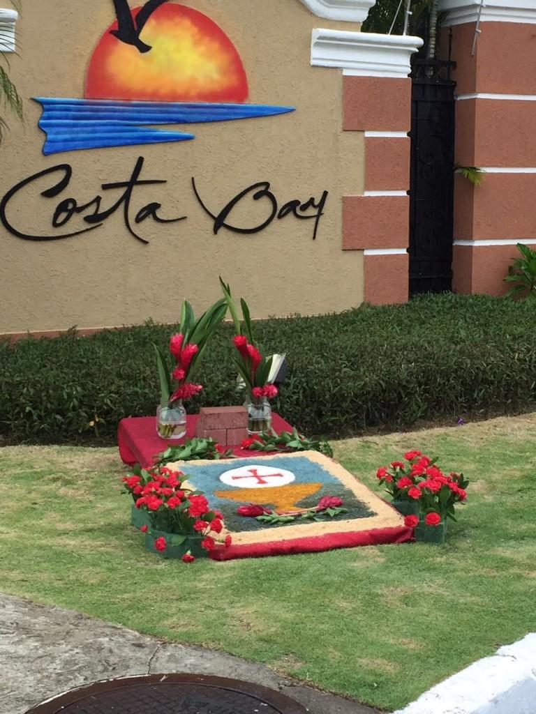 Costa Bay también preparó su altar | Foto: Evelyn Sayeg
