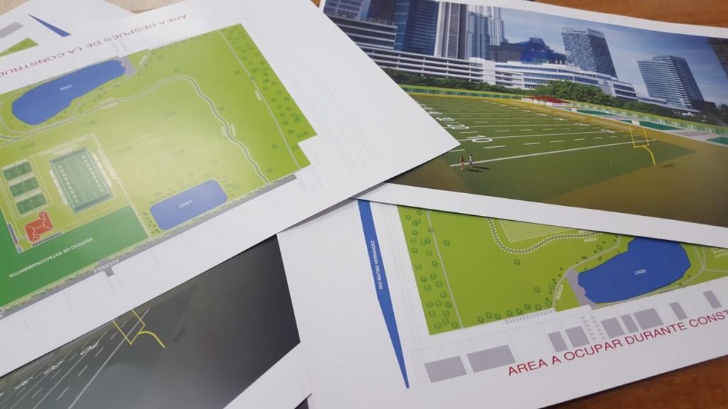 Los planos del proyecto muestran el área que será utilizada, correpondiente a menos del 20% de la dimensión total del parque   Foto: AR