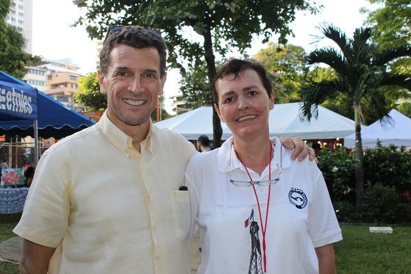 Embajador de Francia en Panamá Philippe Casenave y su esposa Marie Laurence Casenave