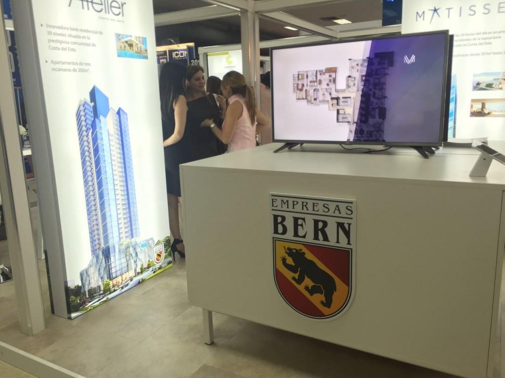 El stand de Empresas Bern antes de recibir a sus visitantes.