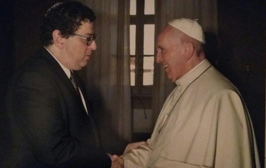 Junto al Papa Francisco   Foto: cortesía