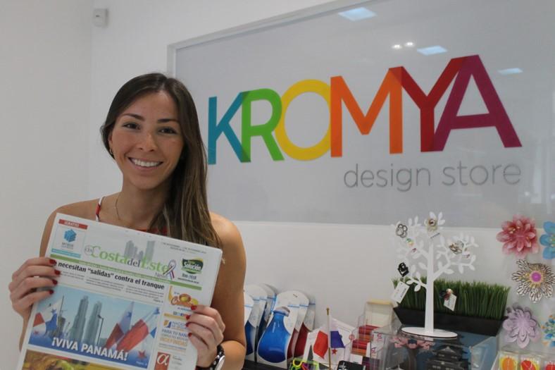 Paola González, ejecutiva de ventas Kromya Store   Foto: Andreína Rodríguez