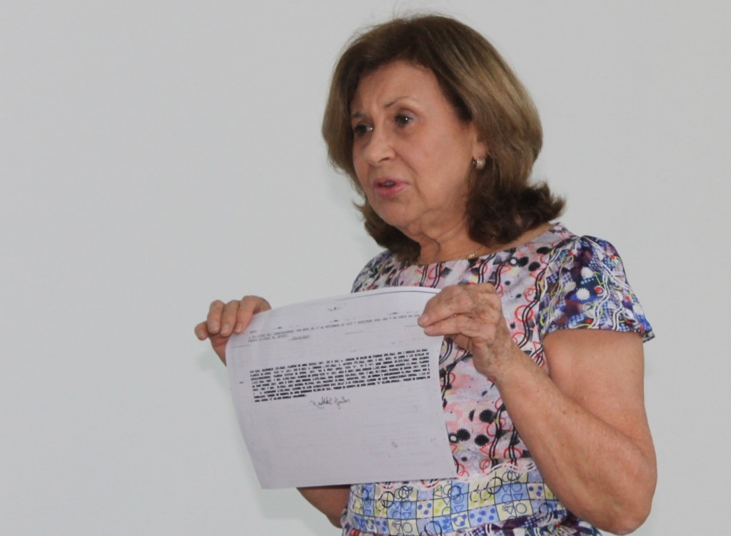 Adela Royo, coordinadora del movimiento vecinal del conjunto residencial Pacific Point.