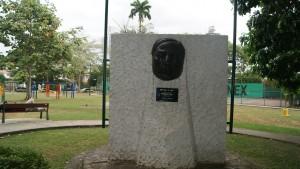 Efigie de Benito Juárez en el Parque del mismo nombre