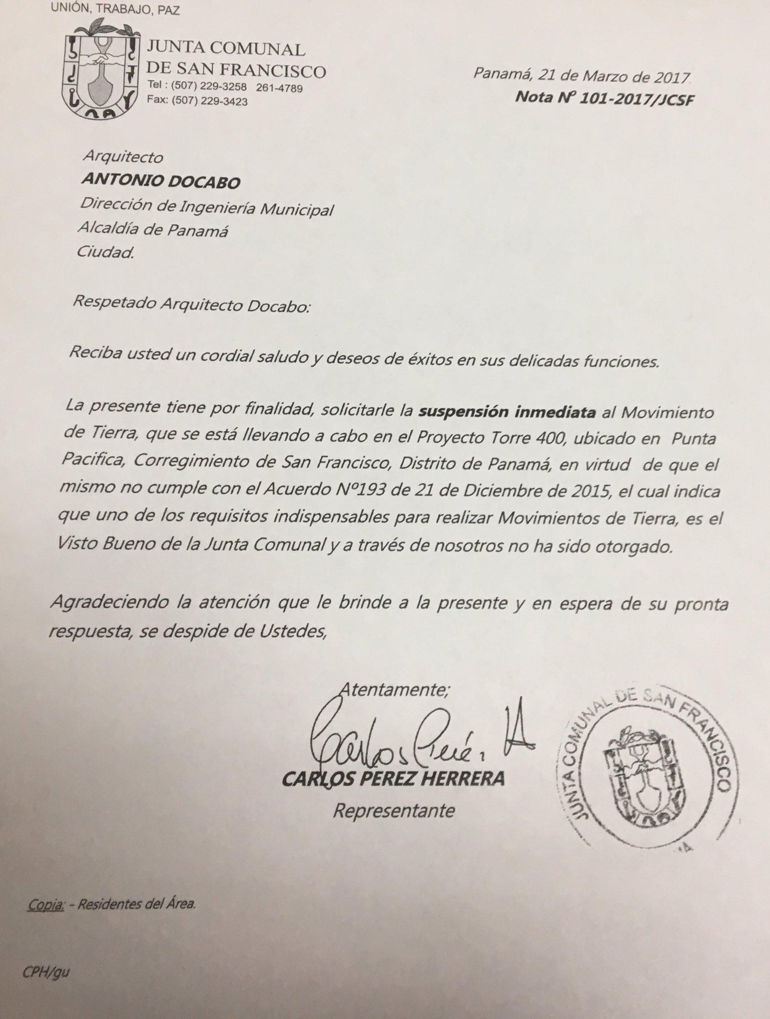 H.R. de SF, Carlos Pérez Herrera exigió a la DOYC fiscalizar y detener movimentos de tierras por falta de permisos de su despacho
