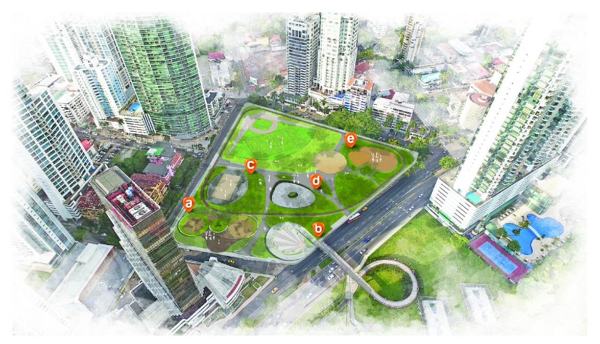 La extensión del parque Urracá es de unos 21,800 metros cuadrados