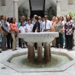 Desde la fuente de las garzas, inició el recorrido de la UTTE por el Palacio Presidencial.
