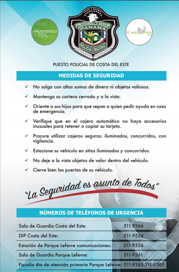 El flyer informativo es distribuido a todos los vecinos de CDE.
