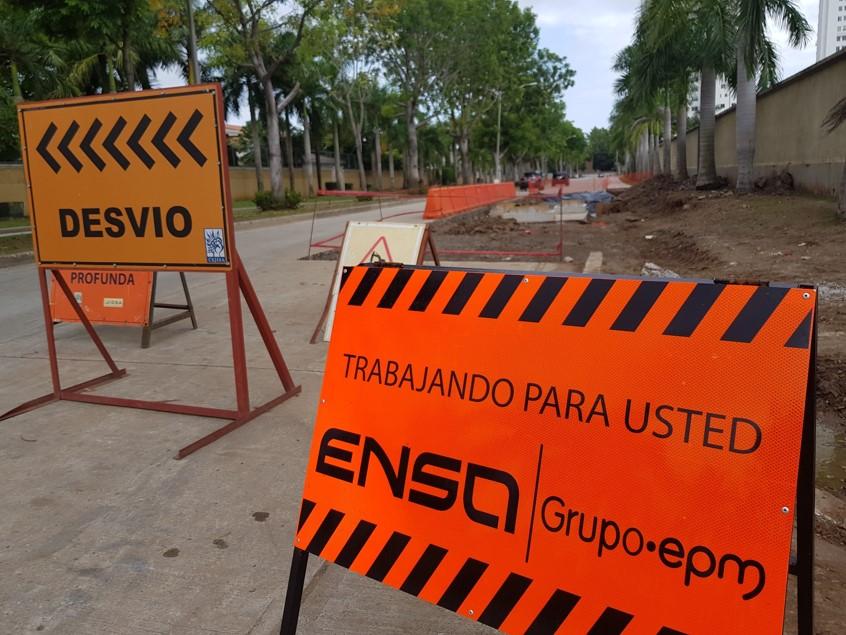 En varias partes de nuestra comunidad, se evidencian los trabajos adelantados por ENSA.