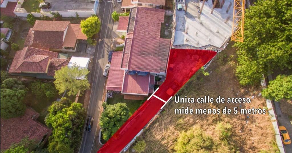 La solicitud de medición interpuesta por Ivette Tribaldos hace referencia a servidumbre entre el PH Buona Vista y calle Los Bambús, su vivienda está después del proyecto