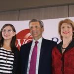 María Luisa Romero, ministra de Gobierno_ Marc S. Pritchard, Chief Brand Officer de Procter and Gamble y Mercedes Eleta de Brenes, presidenta de la WCD-Panamá