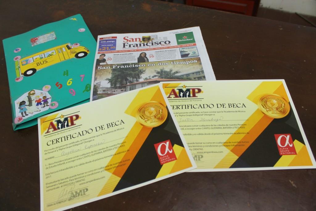 Las becas son patrocinadas por San Francisco News y la Academia de Música de Panamá, tienen duración de un año, extensibles según desempeño.