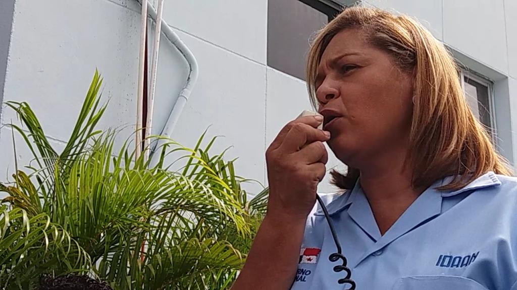 Mercedes Cigarruista, secretaria general de trabajadores del IDAAN.